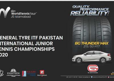 General Tyre ITF Pakistan International Junior Tennis Championships Week 1 Nov 2020
